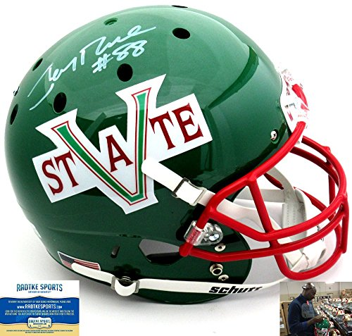 Jerry Rice Autographed/Signed Mississippi Valley State Delta Devils Schutt Full Size NCAA Helmet-0