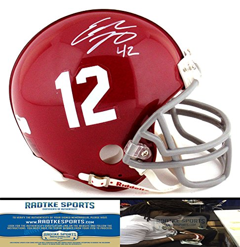 Eddie Lacy Autographed/Signed Alabama Crimson Tide Riddell NCAA Mini Helmet-0