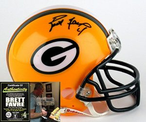 Brett Favre Autographed/Signed Green Bay Packers Mini Helmet-0
