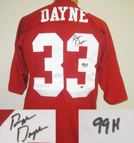Ron Dayne Autographed Russell Wisconsin Jersey-0