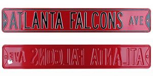 Atlanta Falcons Avenue Officially Licensed Authentic Steel 36x6 Black & Red NFL Street Sign-0