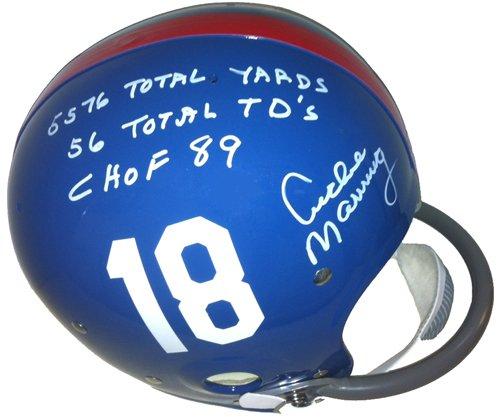 Archie Manning Autographed/Signed Ole Miss Rebels Riddell R/K Helmet Limited Edition of 18-0