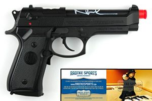 Norman Reedus Autographed/Signed The Boondock Saints Airsoft Replica Black Beretta Pistol-0