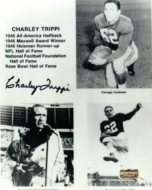 Charley Trippi Autographed/Signed Georgia Bulldogs Career Highlight Collage 8x10 NCAA Photo Signed In Black-0