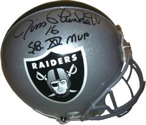 Jim Plunkett Signed Oakland Raiders Authentic Pro Line Helmet SB XV MVP-0