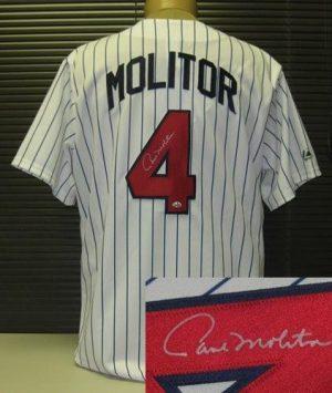 Paul Molitor Autographed Minnesota Twins Jersey-0