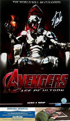 Stan Lee Autographed/Signed Marvel Avengers Age of Ultron Iconic 16x20 Movie Poster Photo-0