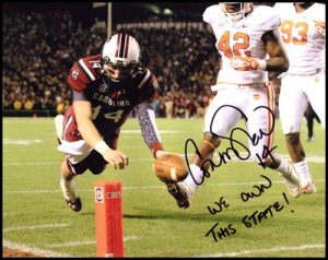 Connor Shaw Autographed/Signed South Carolina Gamecocks 16x20 NCAA Photo with We Own This State Inscription-0