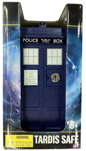 Matt Smith Autographed/Signed Doctor Who In-Package Mini Tardis Safe-0