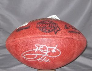 Emmitt Smith Autographed Super Bowl XXVIII Football Cowboys-0