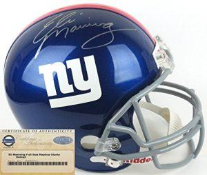 Eli Manning Autographed/Signed New York Giants Riddell Full Size NFL Helmet - Steiner-0