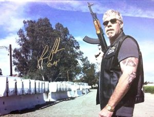 Ron Perlman Clay Morrow Autographed/Signed Sons of Anarchy 12x16 Canvas Print AK-47-0