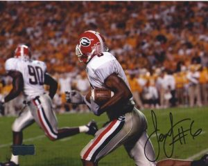 Sean Jones Autographed/Signed Classic Georgia Bulldogs 8x10 NCAA Photo Running-0