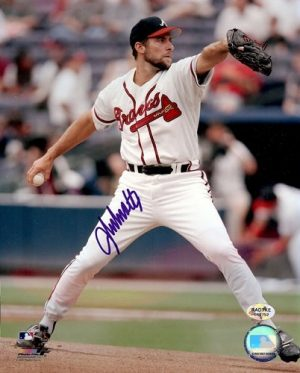 John Smoltz Autographed/Signed Atlanta Braves 8x10 MLB Photo White Jersey-0