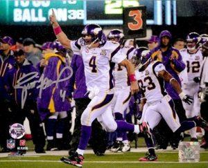 "Brett Favre Autographed/Signed Minnesota Vikings 8x10 NFL Photo ""500th TD""-0"
