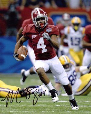 Marquis Maze Autographed/Signed Alabama Crimson Tide 8x10 PhotoBCS Title Game-0