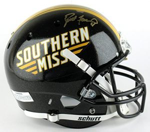 Brett Favre Autographed/Signed Southern Mississippi Golden Eagles Schutt Full Size NCAA Helmet-0