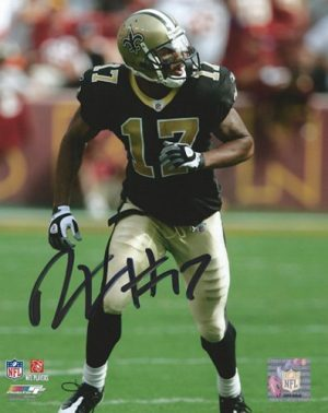 Robert Meachem Autographed/Signed New Orleans Saints 8x10 NFL Photo Running-0