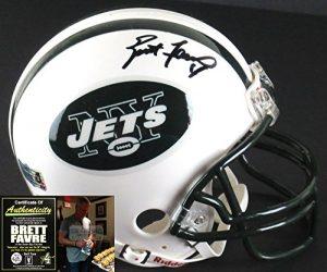 Brett Favre Autographed/Signed New York Jets Riddell NFL Mini Helmet-0