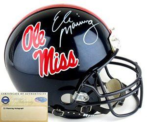 Eli Manning Autographed/Signed Ole Miss Rebels Riddell Authentic Proline NCAA Helmet - Steiner-0
