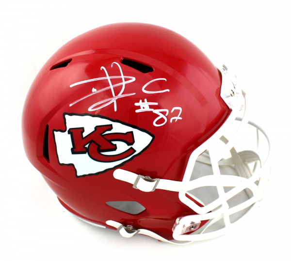 Travis Kelce Signed Kansas City Chiefs Speed Full Size Helmet-0