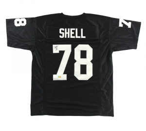 "Art Shell Signed Oakland Raiders Black Custom Jersey with ""HOF 89"" Inscription-0"