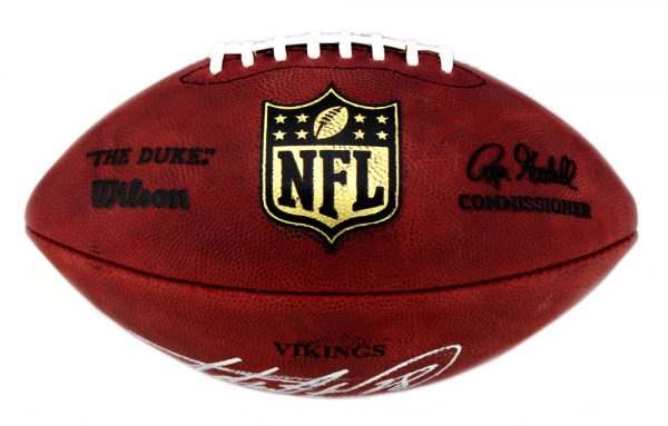 Adrian Peterson Signed Minnesota Vikings Authentic Stamped Football -32576