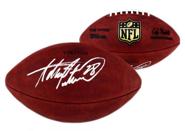 Adrian Peterson Signed Minnesota Vikings Authentic Stamped Football -0