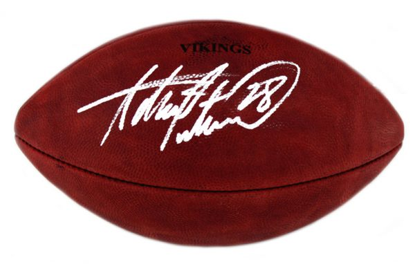 Adrian Peterson Signed Minnesota Vikings Authentic Stamped Football -32577