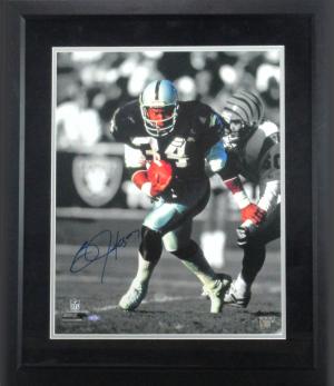 Bo Jackson Signed Oakland Raiders NFL Framed 16x20 Photo-0