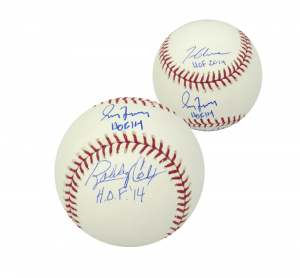 "Greg Maddux, Bobby Cox & Tom Glavine Signed Official Rawlings Baseball with ""HOF"" Inscriptions-0"