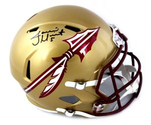 Jameis Winston Signed Florida State Seminoles Speed Gold Full Size NCAA Helmet -0