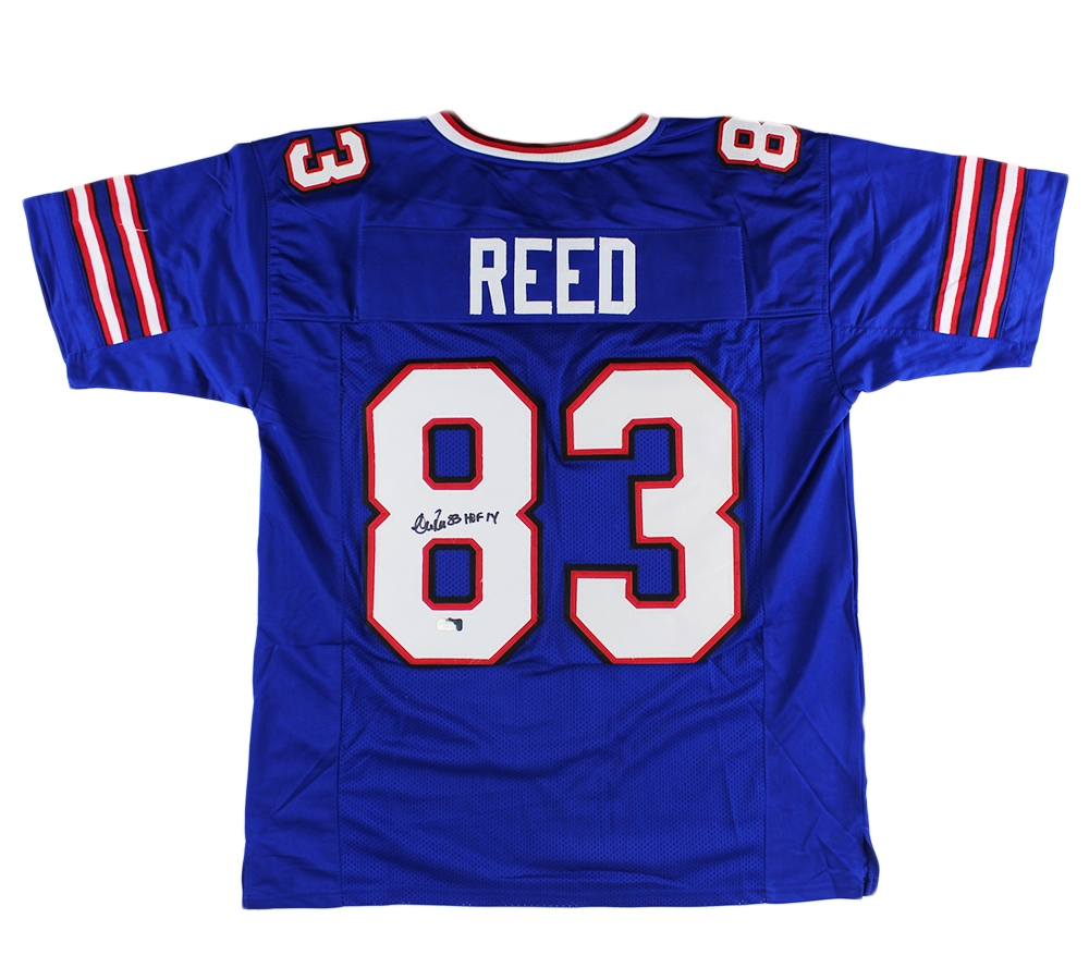 Andre Reed Signed Buffalo Custom Blue Jersey with
