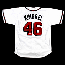 Craig Kimbrel Signed Atlanta Braves White Custom Jersey-0