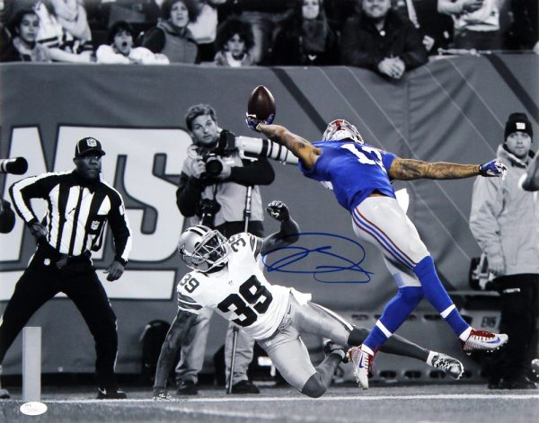 Odell Beckham Jr Signed New York Giants 16x20 NCAA - The Catch - Spotlight Action Photo-0