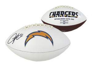 LaDainian Tomlinson Signed NFL San Diego Chargers Embroidered Football-0
