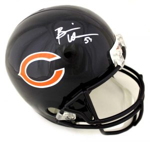 Brian Urlacher Signed Chicago Bears Riddell Full Size NFL Helmet-0