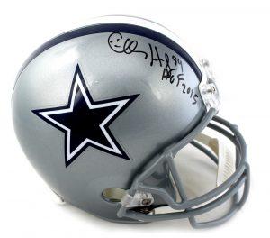 "Charles Haley Signed Dallas Cowboys Riddell Full Size NFL Helmet With ""HOF 15"" Inscription -0"