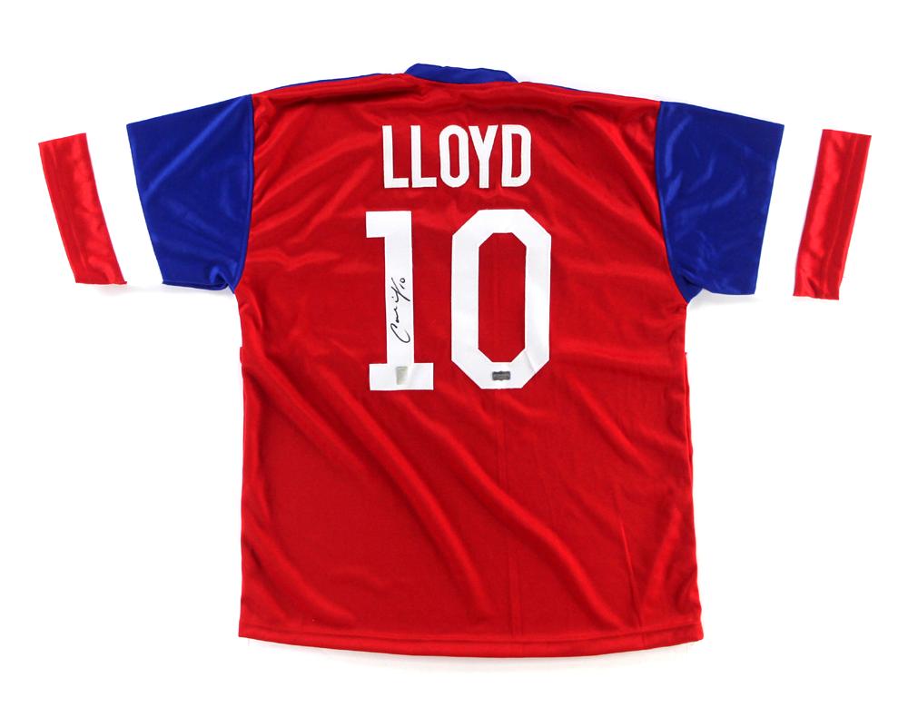 brand new 1fd9e fdf05 Carli Lloyd Signed US Women's Soccer Red Custom Jersey