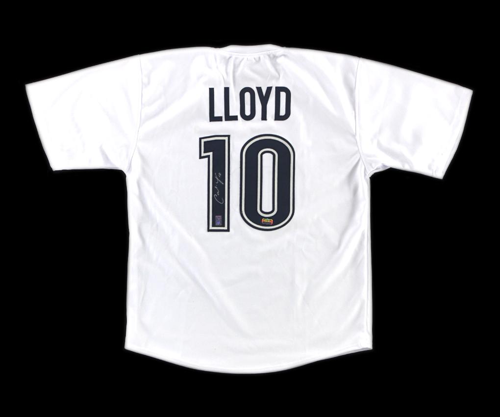finest selection 1f6b1 430ea Carli Lloyd Signed US Women's Soccer White Custom Jersey