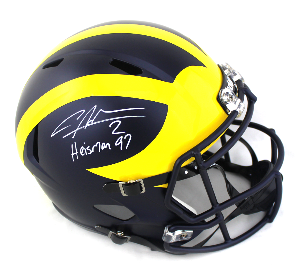 the latest 3bce8 87991 Charles Woodson Signed Michigan Wolverines Full Size Speed ...