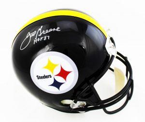 "Joe Greene Signed Pittsburgh Steelers NFL Riddell Replica Helmet With ""HOF 87"" Inscription-0"