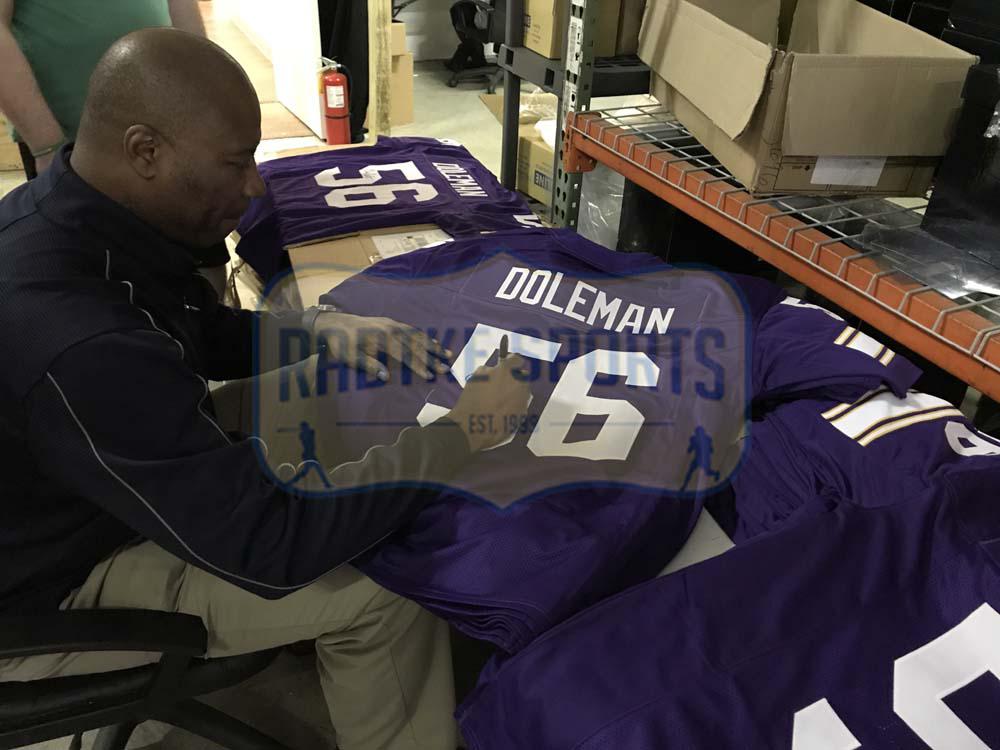 premium selection bdc18 7eae9 Chris Doleman Signed Minnesota Vikings Purple Custom Jersey With