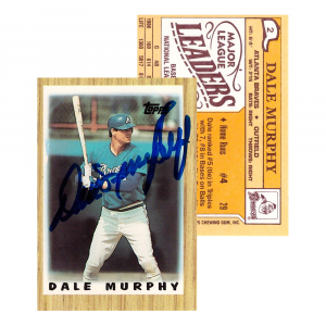 Dale Murphy Signed 1987 Topps #2 Atlanta Braves Baseball Card-0