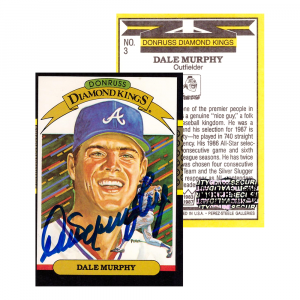 Dale Murphy Signed 1986 Donruss #3 Diamond Kings Atlanta Braves Baseball Card-0