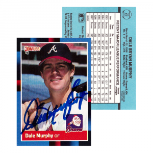 Dale Murphy Signed 1987 Donruss #78 Atlanta Braves Baseball Card-0