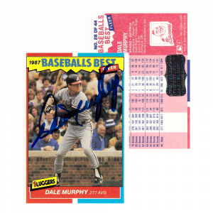Dale Murphy Autographed/Signed 1987 Fleer #28 Atlanta Braves Baseball Card-0