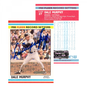 Dale Murphy Signed 1988 Fleer #27 Atlanta Braves Baseball Card-0