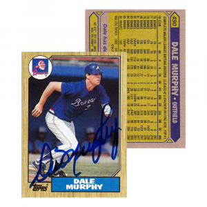 Dale Murphy Signed 1987 Topps #490 Atlanta Braves Baseball Card-0