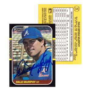 Dale Murphy Signed 1986 Donruss #78 Atlanta Braves Baseball Card-0